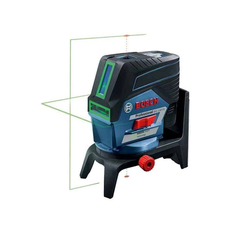 BOSCH Laser combiné 50m vert GCL2-50CG 12V 2Ah + RM2 L-BOXX - 0601066H00