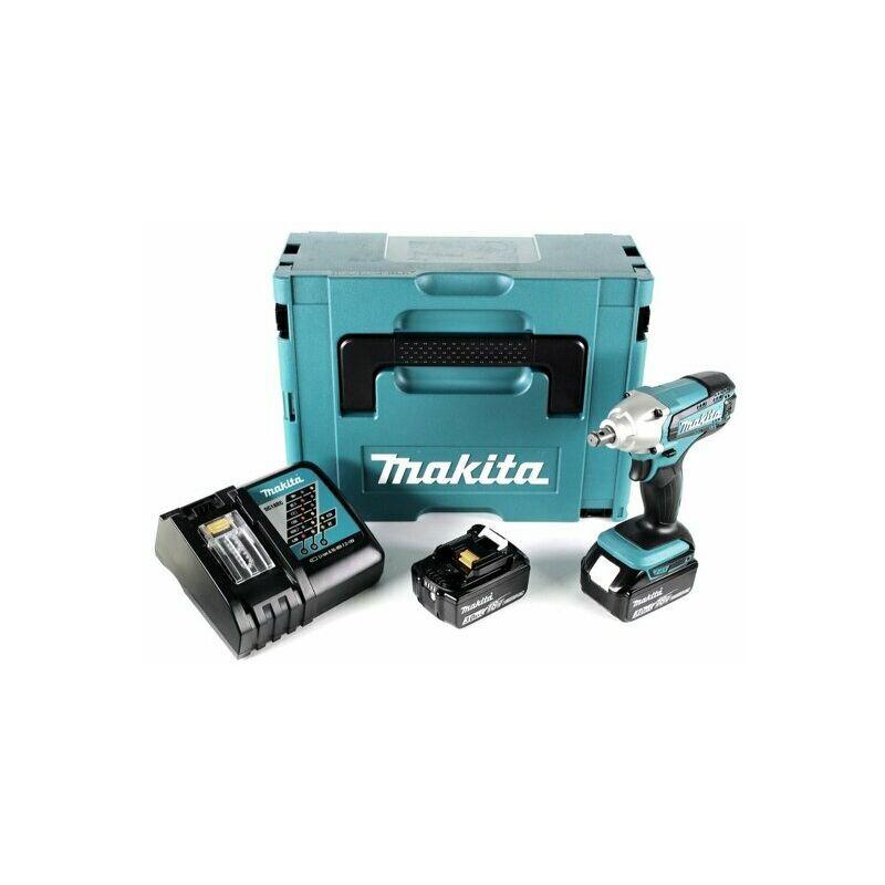 Makita DTW190RTJ - Set clé à choc Li-Ion 18V (2x batterie 5.0Ah) dans