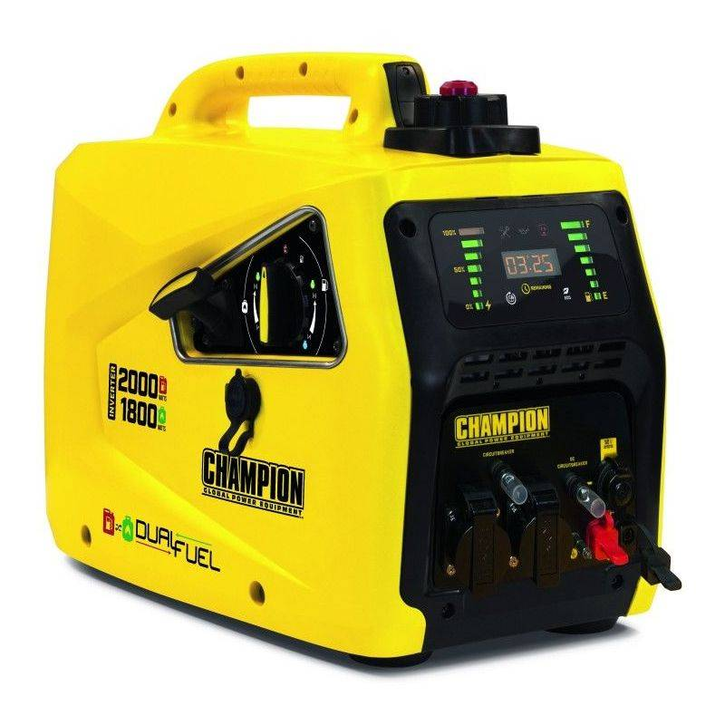 CHAMPION Groupe électrogène Inverter insonorisé essence / gaz 2500W
