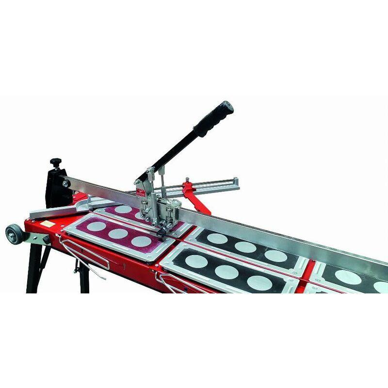 HEKA Coupe-carreau GigaCut Plus 935mm hauteur réglable pieds et guide laser