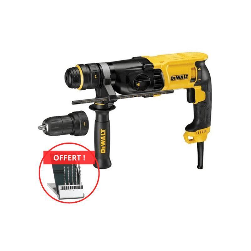 DEWALT Perforateur DEWALT SDSPlus 800W - Mandrin + poignée + mallette de