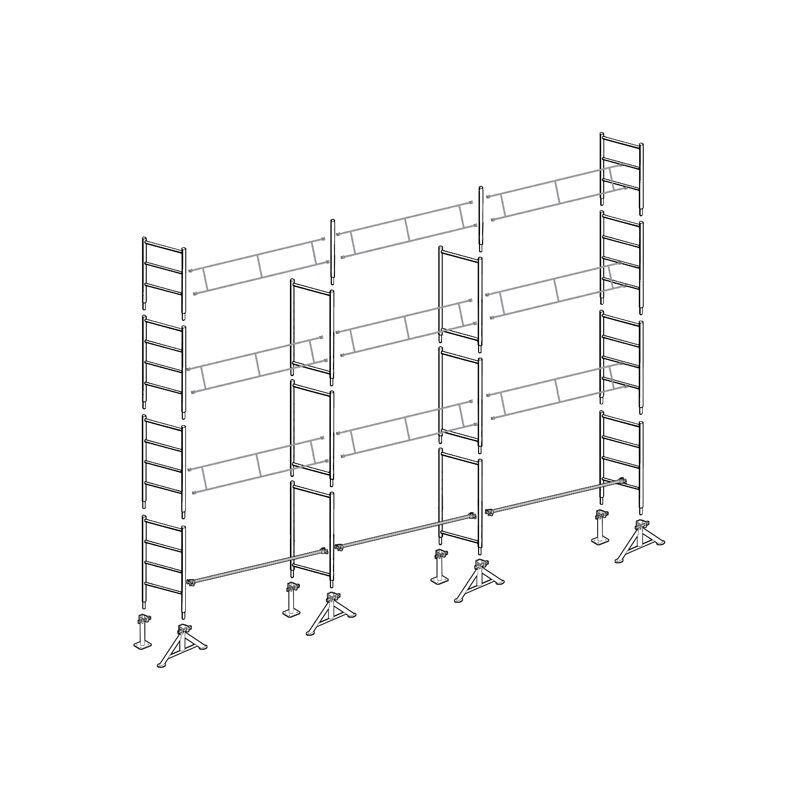 Echafaudages Stéphanois - Echafaudage 49 de maçon 80 m² Top10x8