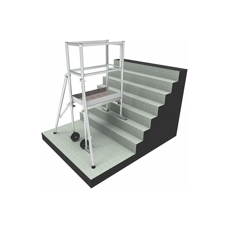 ECHAFAUDAGE DIRECT - MATISERE B. Echafaudage pour escalier: 4m haut. travail max - ECHAFAUDAGE DIRECT