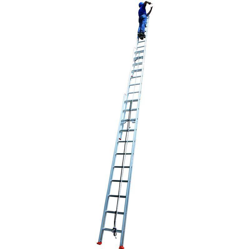 ECHAFAUDAGES STÉPHANOIS Echelle usage ultra intensif coulissante 3 plans avec corde 10m34