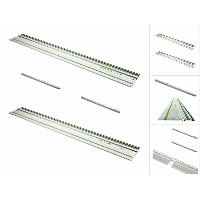 Festool FS 1400/2 Rails de guidage 1400 mm - 2 pièces (2x 491498) + 2x