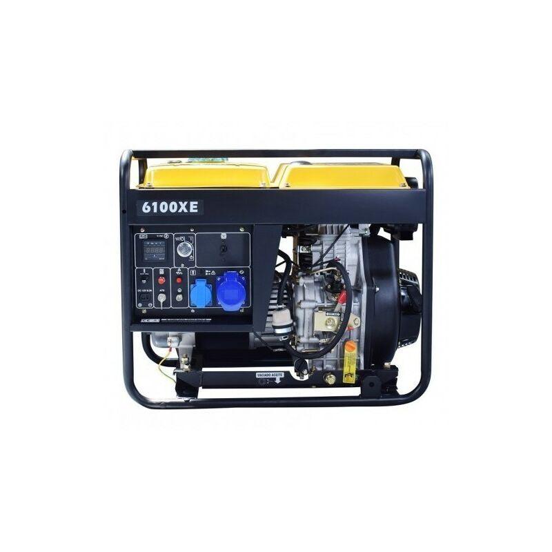KOMPAK 5,5KW diesel groupe électrogène démarrage élec AVR NT-6100XE mono