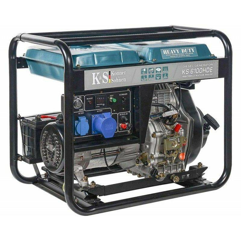 KÖNNER & SÖHNEN Konner & Sohnen Groupe électrogène diesel 5.5kw déma élec KS 6100HDE