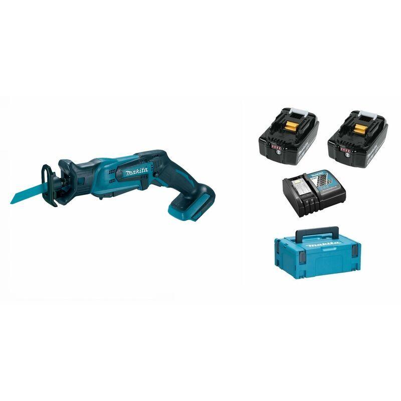 Makita DJR183RMJ Scie sabre à batteries 18V Li-Ion set (2x batterie