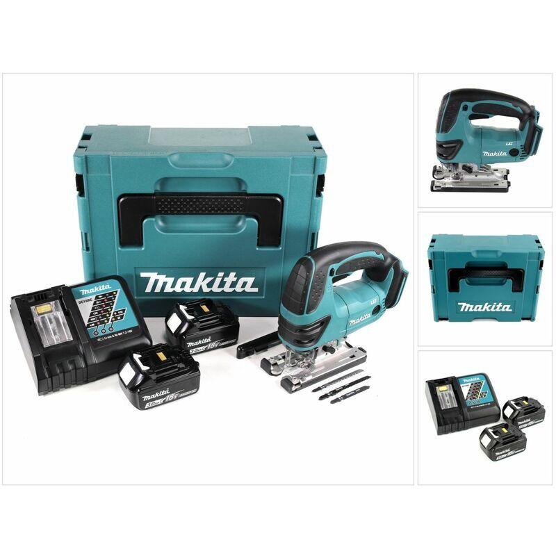 Makita DJV 180 RFJ Scie sauteuse sans fil 18V + 2x Batteries 3,0Ah +