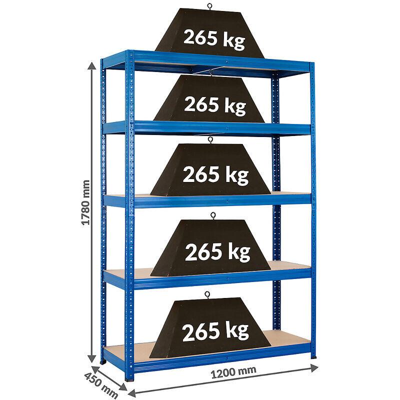Certeo - Mega Deal   2x étagères métalliques pour charges lourdes