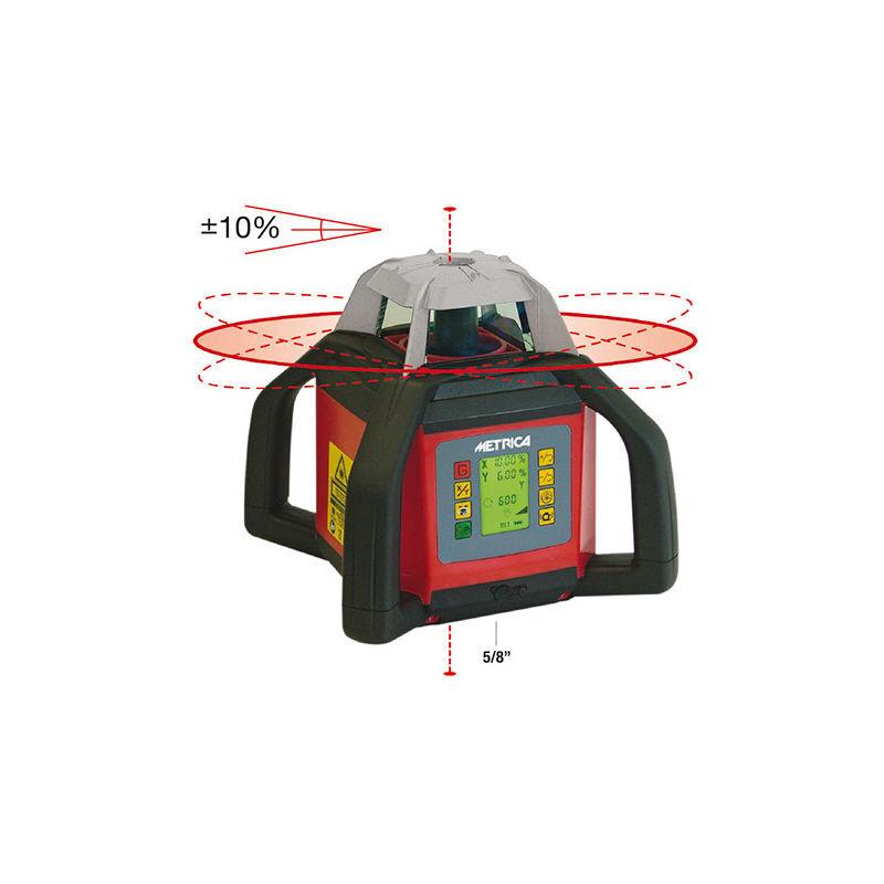 Metrica - Niveau laser automatique rotatif à hauteur inclinable avec 4
