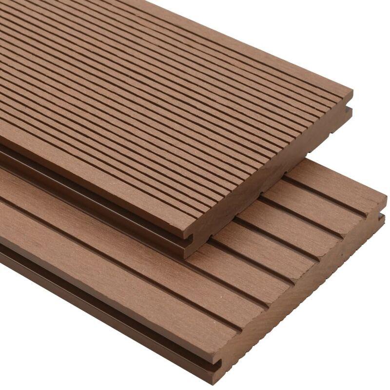 Youthup - Panneau de terrasse et accessoires WPC 10 m2 2,2 m Marron