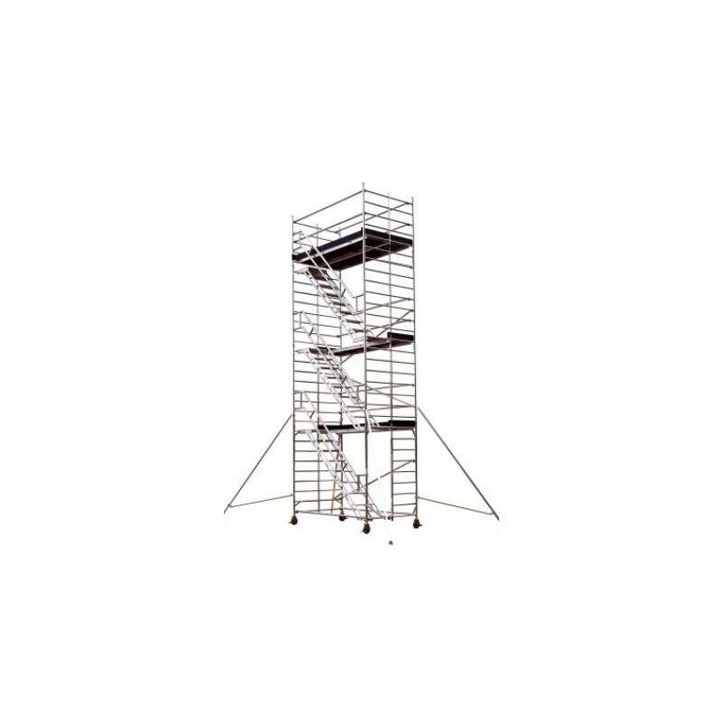 TUBESCA COMABI Tour Roulante Aluminium Pour Usage Intensif - Starlium 600 Escalier