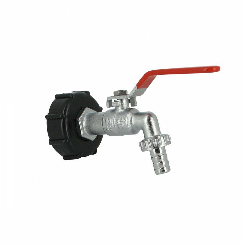 Multicuves - Raccord S60X6 cuve eau - robinet laiton chromé 15 mm