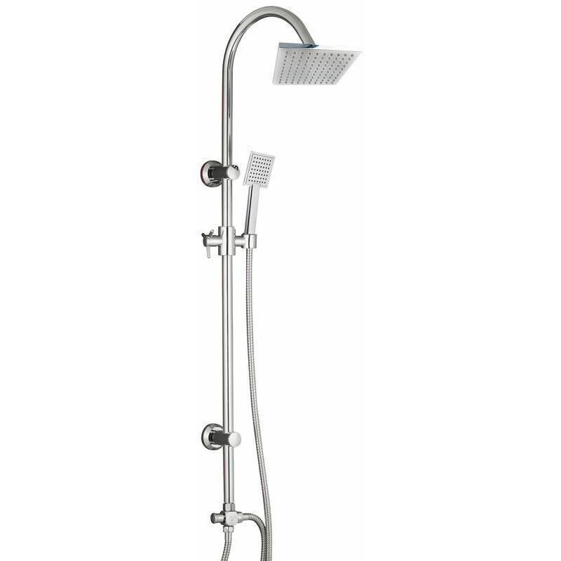 Sarodis - Colonne de douche carrée sans robinetterie tete carree en ABS
