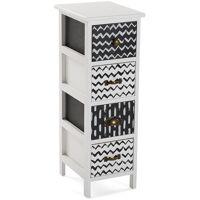 VERSA Lauren Meuble pour la salle de bain, 72x30x25cm - Noir et blanc - Versa <br /><b>87.95 EUR</b> ManoMano.fr