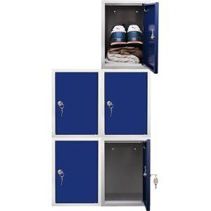 Newpo - 5x vestiaires multicases métalliques   HxLxP 35 x 25 x 45 cm - Publicité
