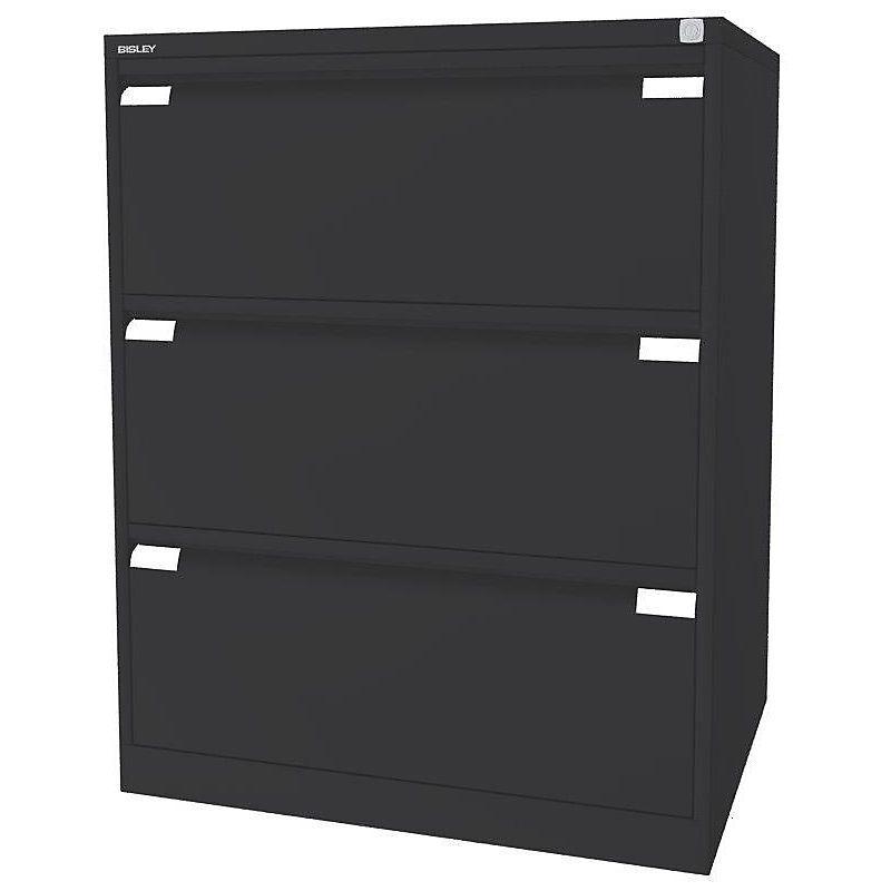 CERTEO Bisley Classeur pour dossiers suspendus à 2 rangées, 3 tiroirs, format