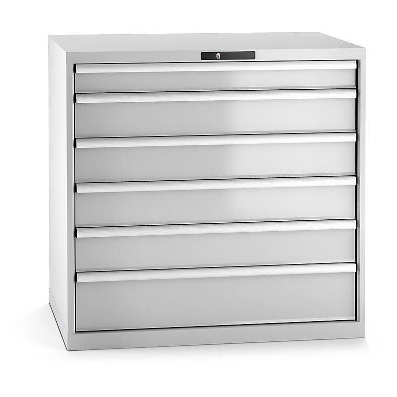 CERTEO Lista Armoire à tiroirs en tôle d'acier - h x l 1000 x 1023 mm, 6
