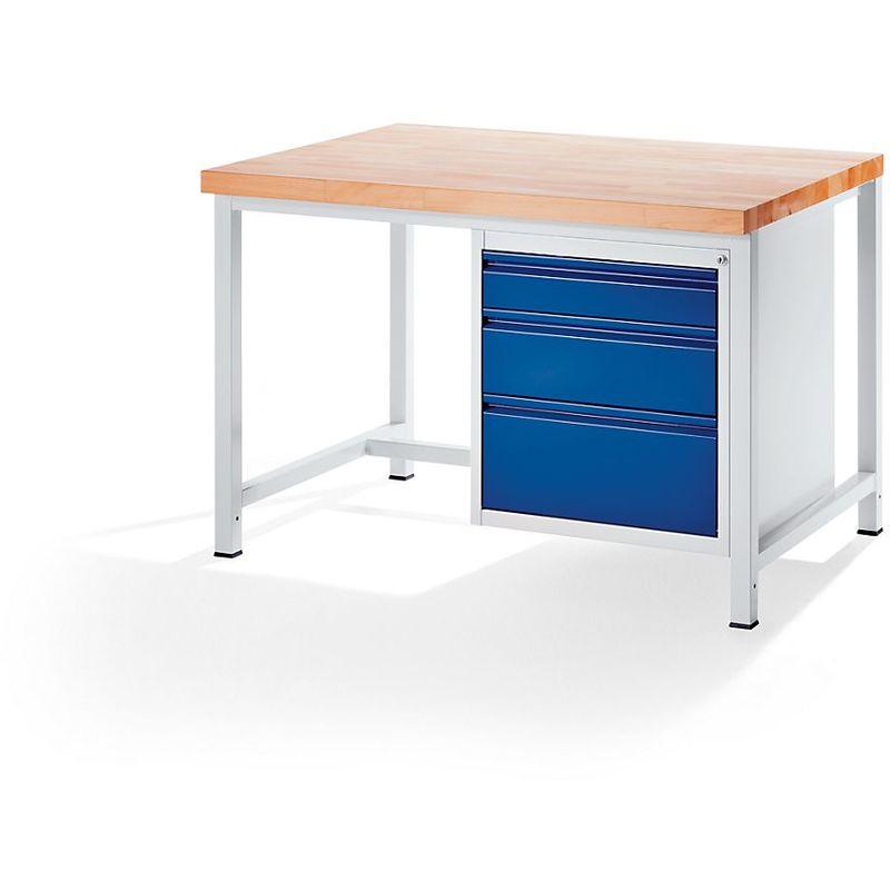 RAU Etabli, stable - 3 tiroirs taille L – hauteur de chaque 1 x 120/180/240