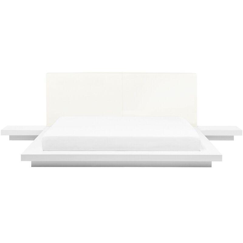 BELIANI Lit japonais 160 x 200 cm blanc ZEN - BELIANI
