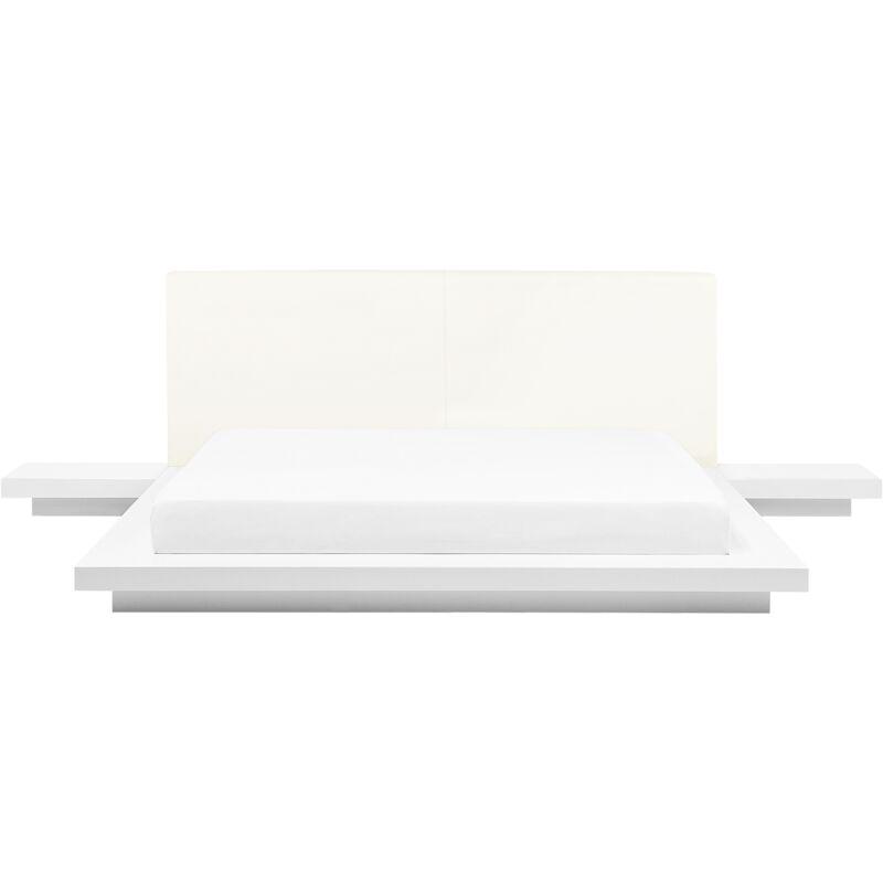 BELIANI Lit japonais blanc 180 x 200 cm ZEN - BELIANI