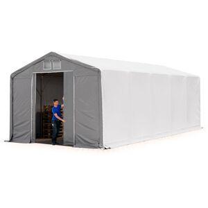 INTENT24.FR 5x10m hangar INTENT24, PVC d'env. 550 g/m², H. 3m avec porte - Publicité