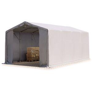 INTENT24.FR 5x8m hangar INTENT24, PVC d'env. 720 g/m², anti-feu, H. 3m avec portes - Publicité