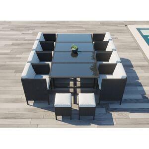 CONCEPT-USINE Daytona 12 : salon de jardin encastrable 12 places en résine tressée - Publicité