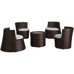 AUBRY GASPARD Salon empilable Totem 5 éléments en résine Cuivre - Cuivre - AUBRY - Publicité
