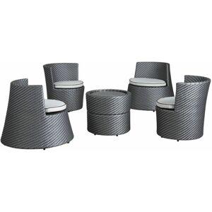 AUBRY GASPARD Salon empilable Totem 5 éléments en résine Perle - Perle - AUBRY GASPARD - Publicité