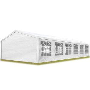 Intent24.fr - Tente de réception 6x12 m pavillon Blanc bâche PE épaisse - Publicité