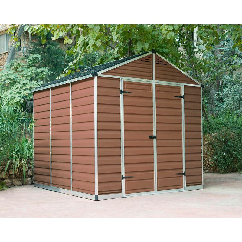 Palram - Abri de jardin SKYLIGHT 8X8 couleur ambre - 5.4m²