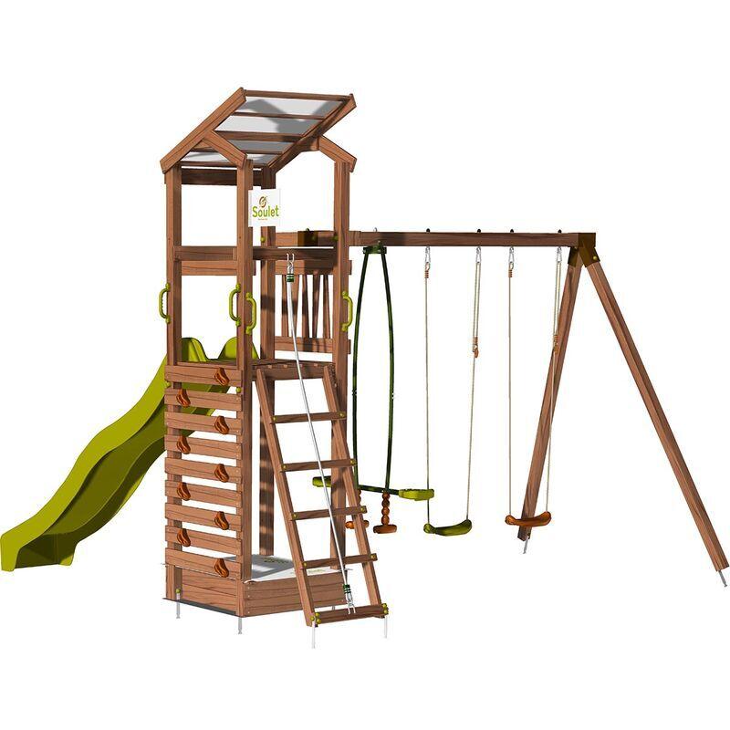 Soulet - Aire de jeux pour enfant avec portique et bac à sable - HAPPY