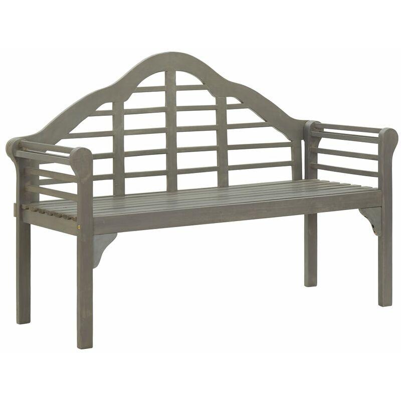 Zqyrlar - Banc de jardin Délavage gris 135 cm Bois d'acacia solide