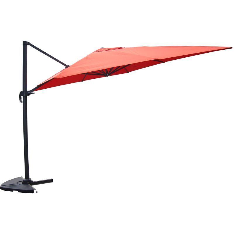 CONCEPT-USINE Cesare terracotta : Parasol déporté, rectangulaire de 3x4m, rotatif à