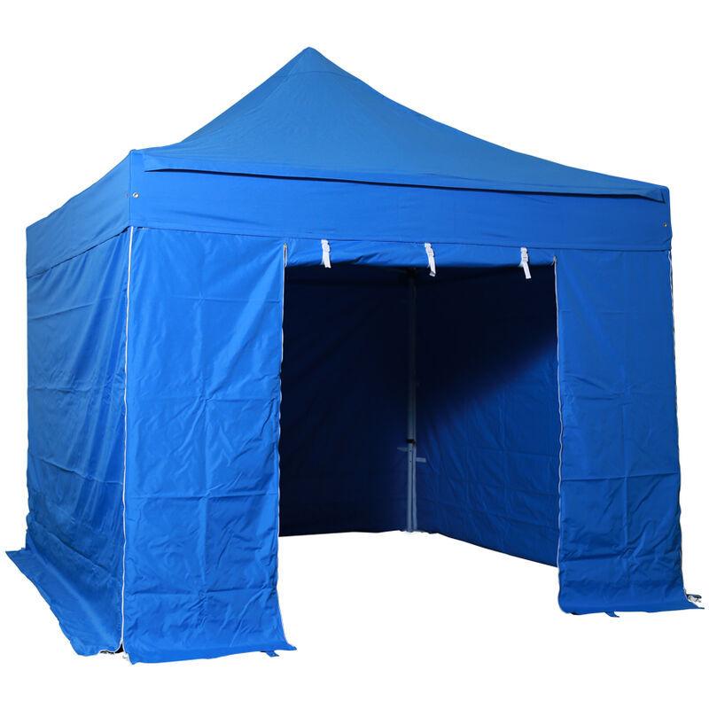 INTEROUGE Tente pliante pergola tente de jardin tonnelle 3x3 M en Acier et