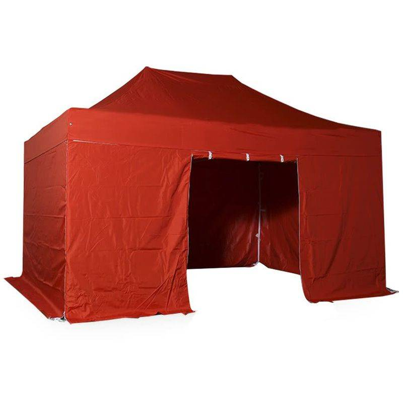Interouge - Tente pliante pergola tente de jardin tonnelle 3x4.5 M en