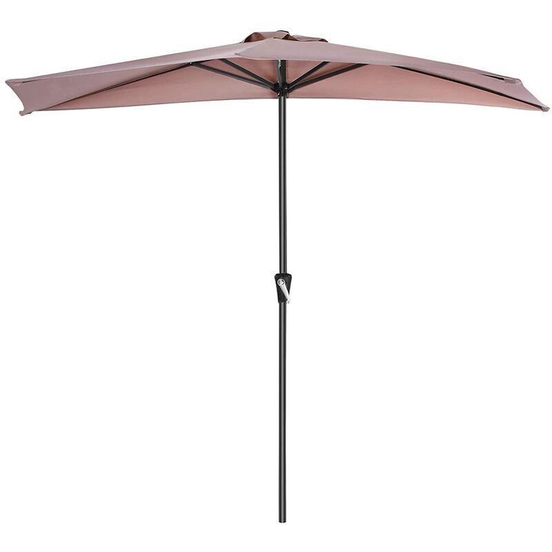 SONGMICS Parasol de Balcon de 2,7 m de diamètre, Protection Solaire, Ombrelle