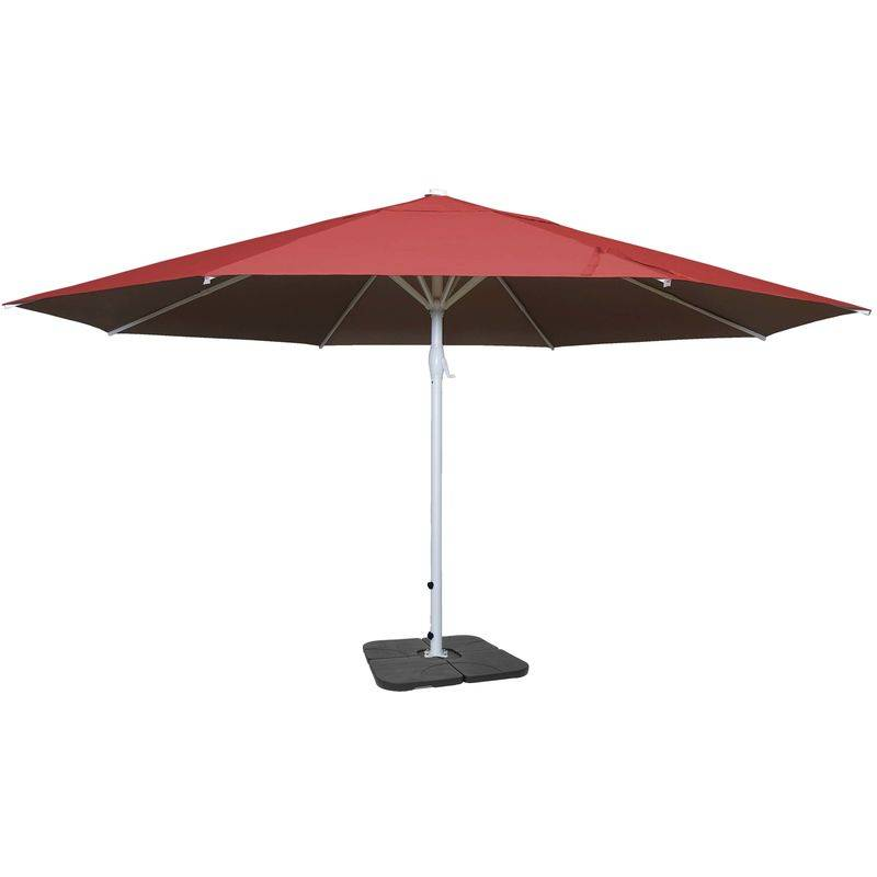 HHG - Parasol Meran II, gastronomie, parasol pour marché, Ø 5m