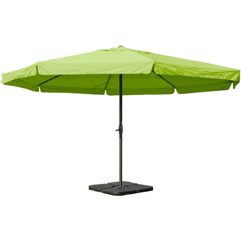 HHG - Parasol en aluminium Meran Pro, gastronomie, marché, avec volant,