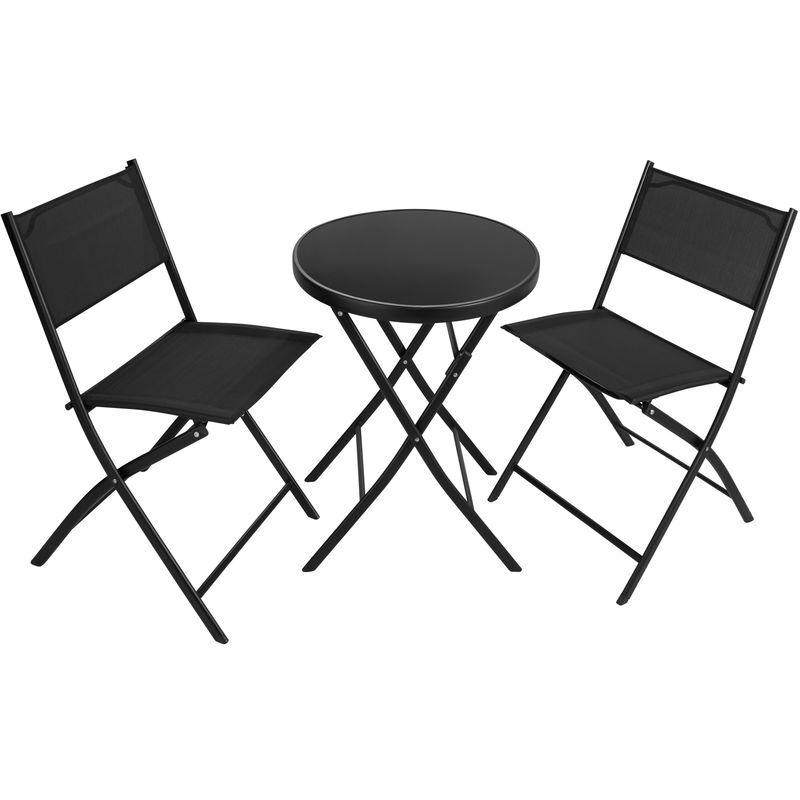 Tectake - Salon de Jardin DÜSSELDORF 2 Personnes 1 Table et 2 Chaises