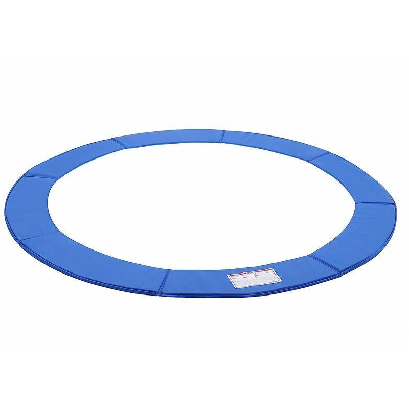 SONGMICS Coussin de protection Ø244cm Bleu ressorts pour Trampoline STP8FT - Bleu