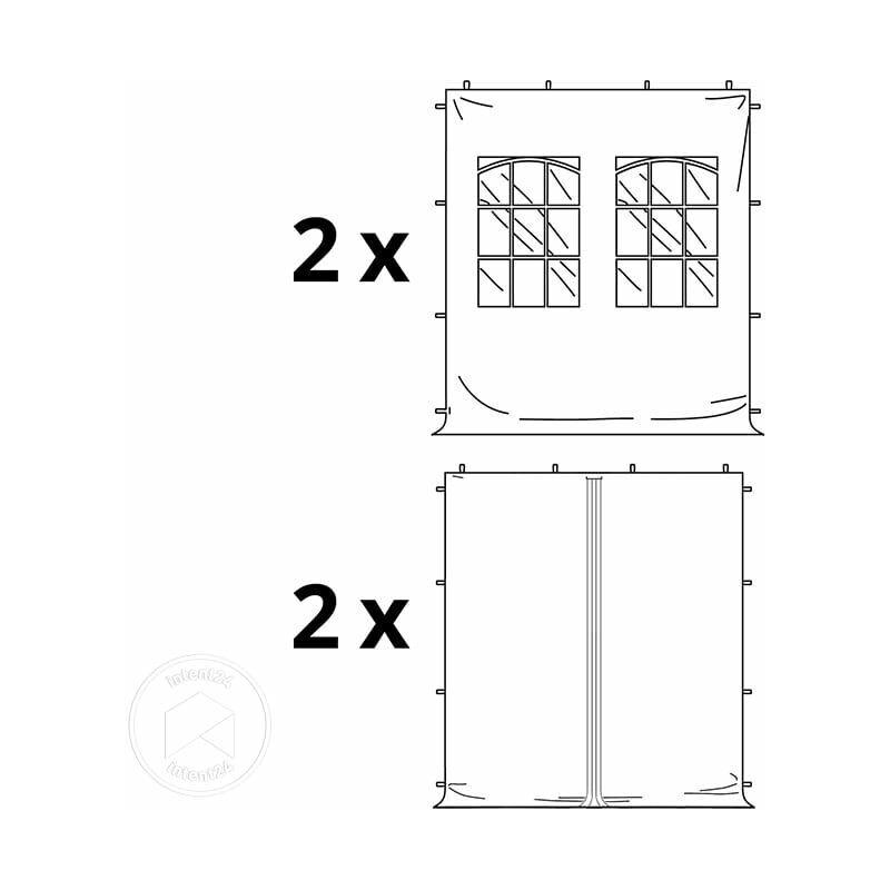 INTENT24.FR Tente Pliante 3x3 m - 4 côtés Acier Barnum Chapiteau Pliant Tonnelle
