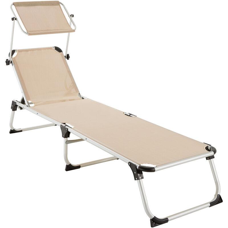 Tectake - Transat AURELIE - chaise longue de jardin, bain de soleil,