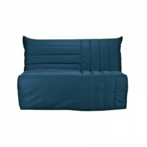 BULTEX Banquette BZ BETH 3 places - Tissu Bleu canard - L 142 x P 101 x - Publicité