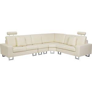 Beliani - Canapé angle à gauche 6 places cuir beige STOCKHOLM - Publicité