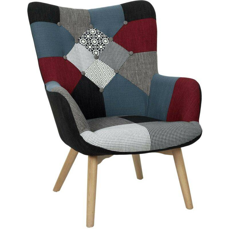 The Home Deco Factory - Fauteuil Milano Patchwork Home Deco Factory