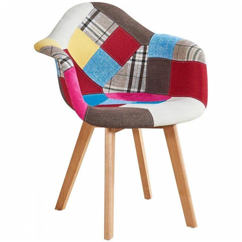 Bobochic - Fauteuil FABIO patchwork multicolore Multicolore