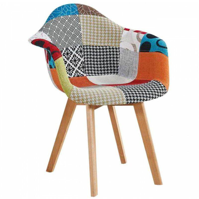 Bobochic - Fauteuil FABIO patchwork multicolore Multicolore 2